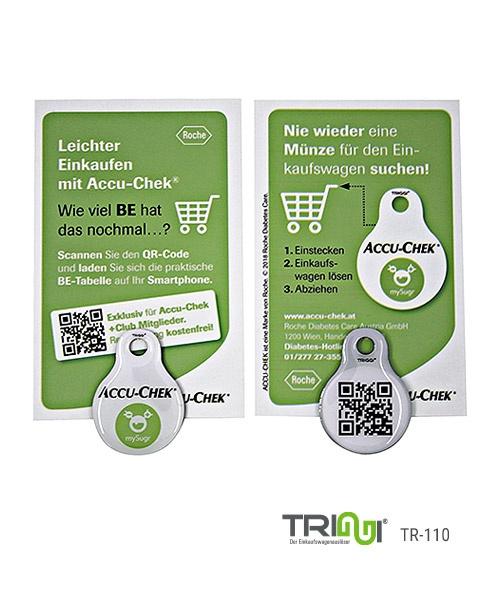 Einkaufswagenlöser mit Logo bedrucken - TRIGGI® TR-110