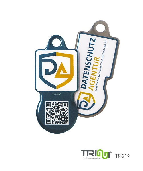 Einkaufswagenlöser Metall bedrucken mit Logo - TRIGGI® TR-212